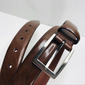 Jos A. Bank Brown Italian Leather Dress Belt 44